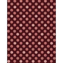 Romantic Afternoon Flannel - Dots (Burgundy)