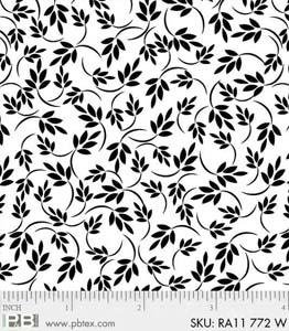 Ramblings 11 - Vines and Leaves (White on White: Refer to Description)