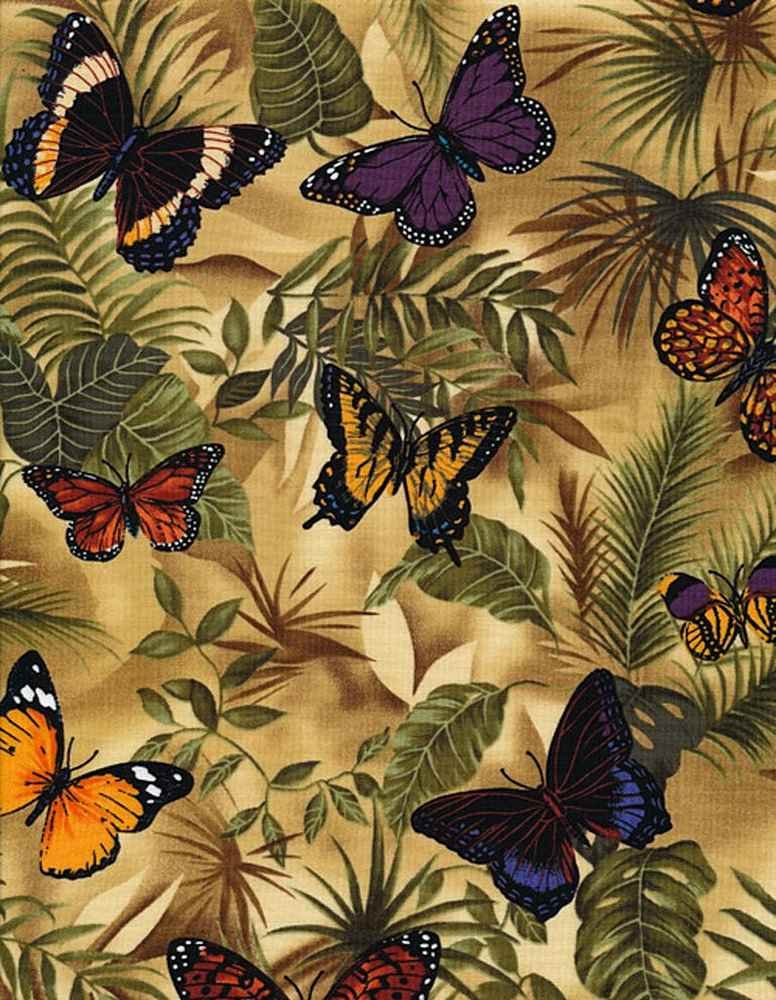 *Butterflies On Leaves (Neutral)