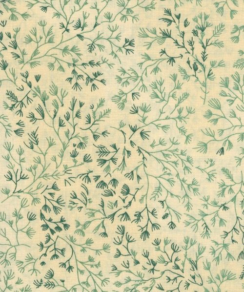 Woodland 108 Backing - Vines (Cream/Green)