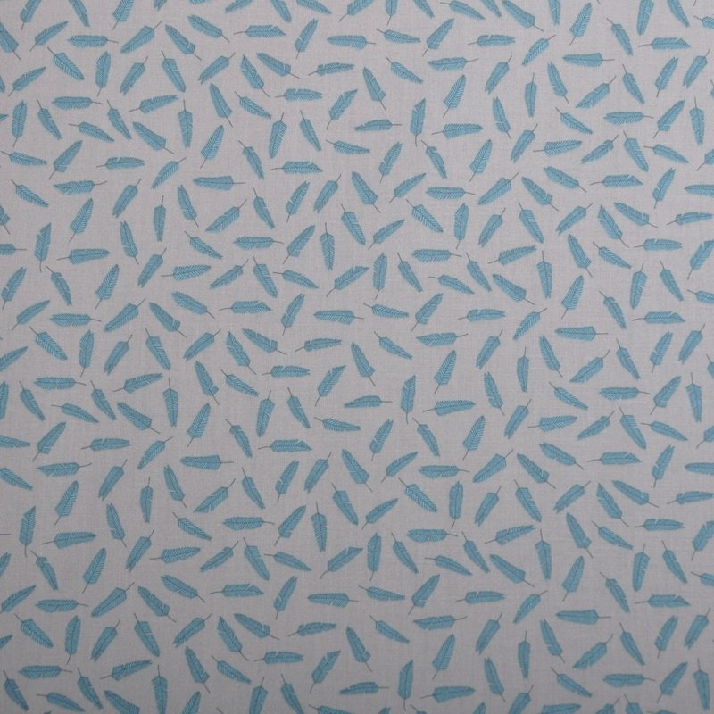 All Afloat - Feathers (Light Taupe/Teal)