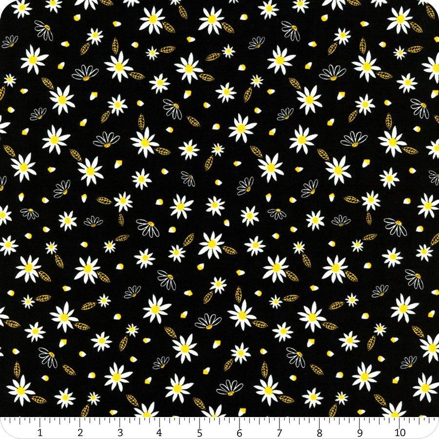*Bee Mini Florals (Black)