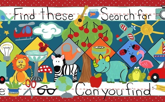 Search and See - Border Print