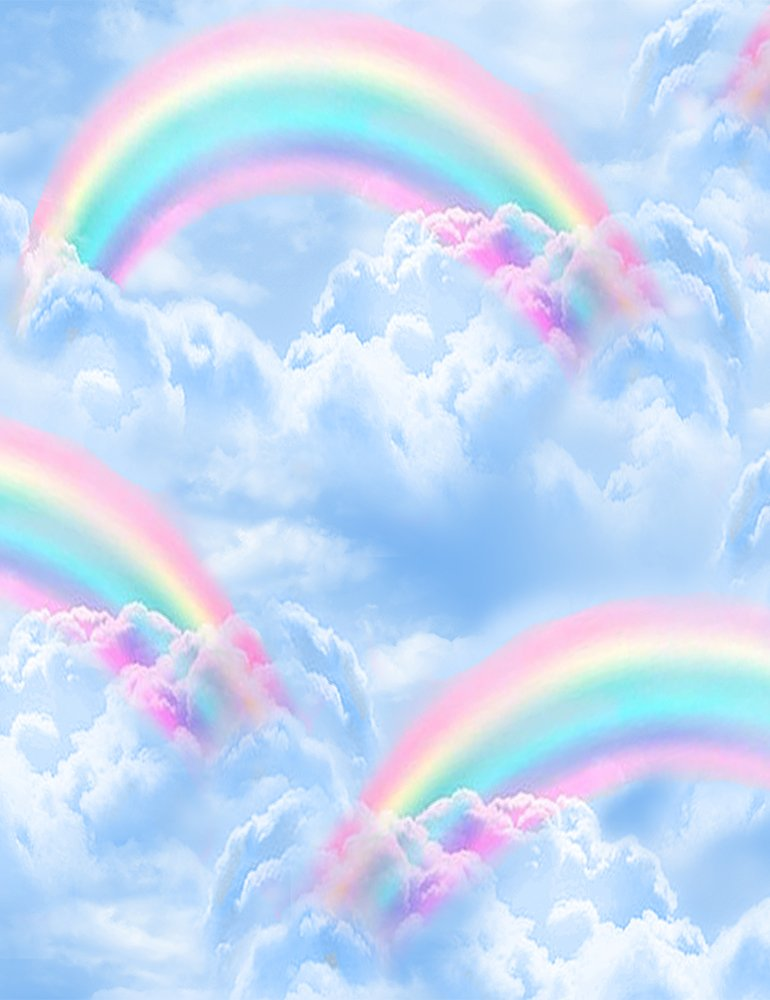 *Double Rainbows In The Sky (Blue)