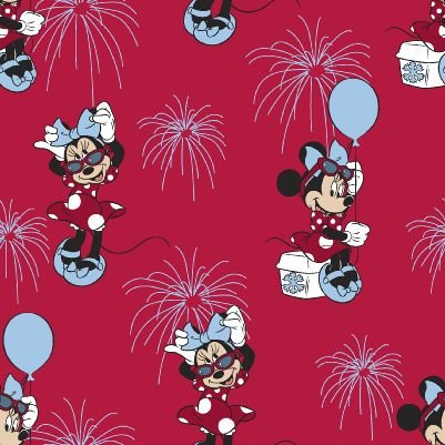 Mickey and Minnie - Allover Patriotic Minnie