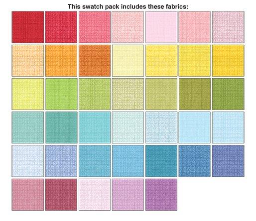 Color Weave - 40 Pieces (2 1/2 Strips)