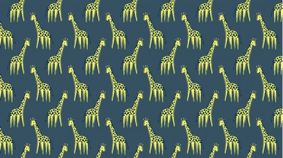 Giraffe (Denim)