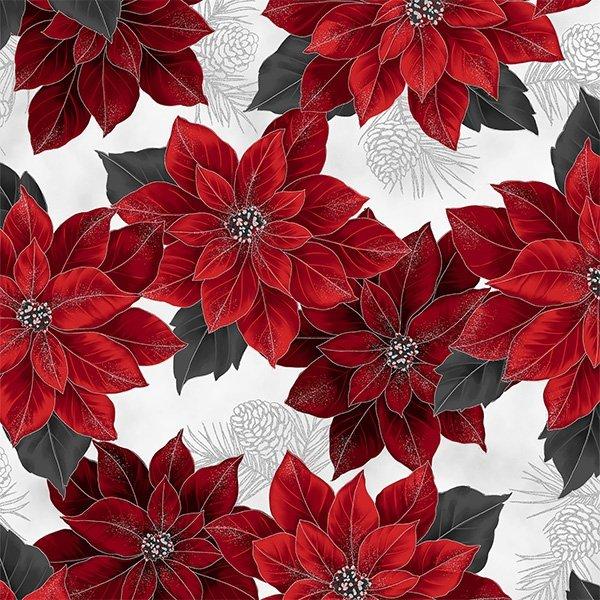 Joyful Traditions - Poinsettias (Ice/Silver)