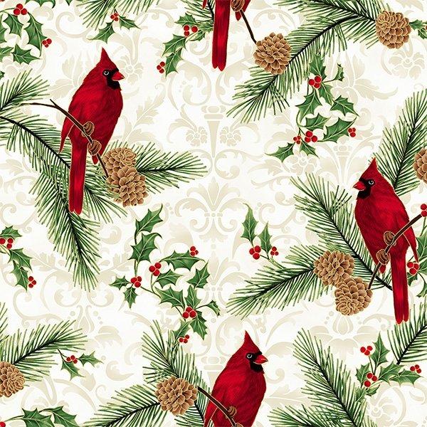 Joyful Traditions - Cardinals (Natural/Gold)