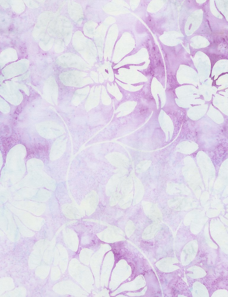 Tonga Batiks - Floral Scroll (Lilac)