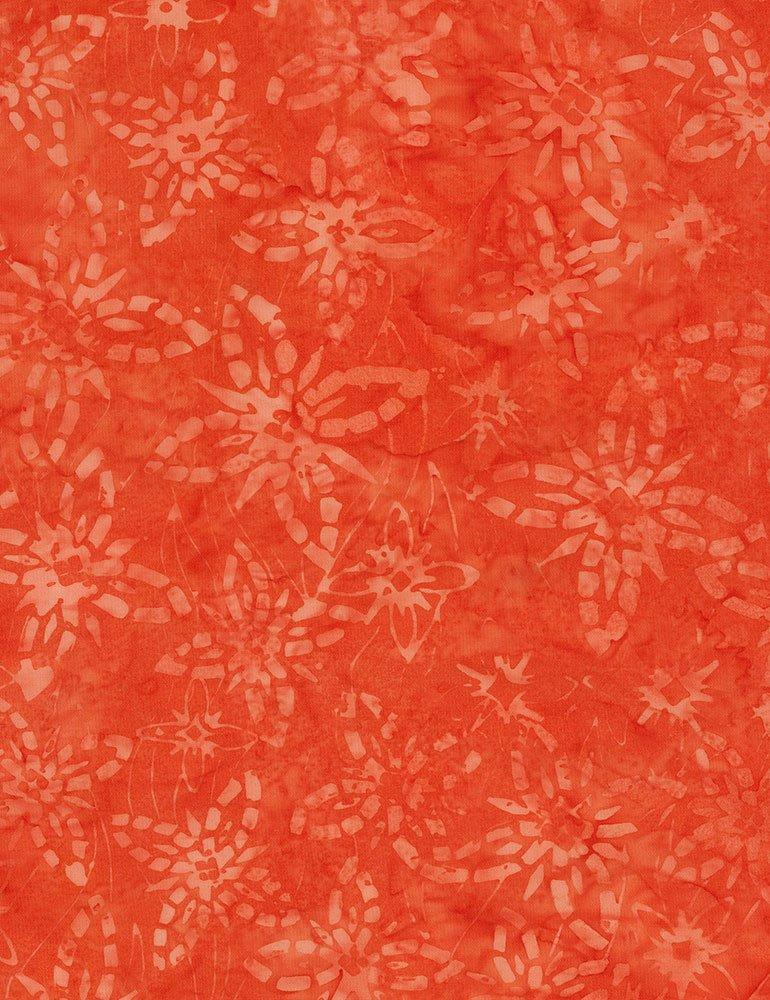 Tonga Batiks  - Blossoming (Cayenne)