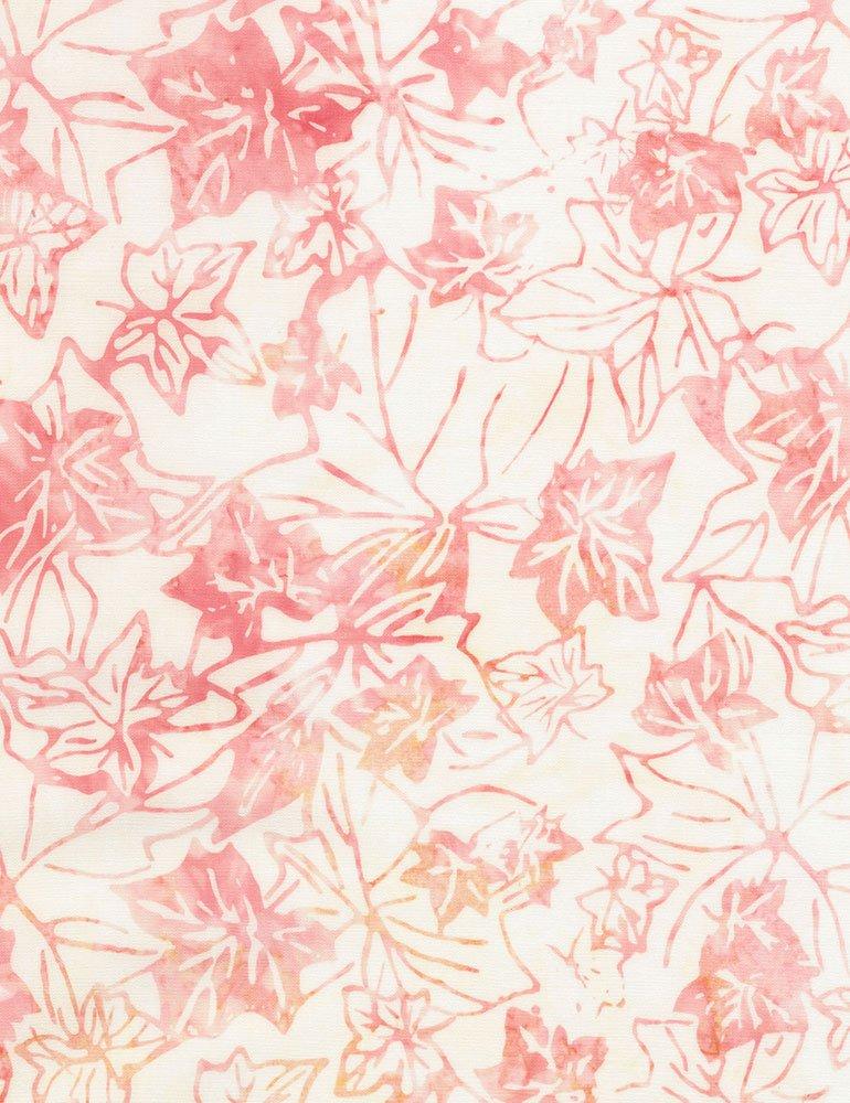 Tonga Batiks - Fallen Leaves (Pink)