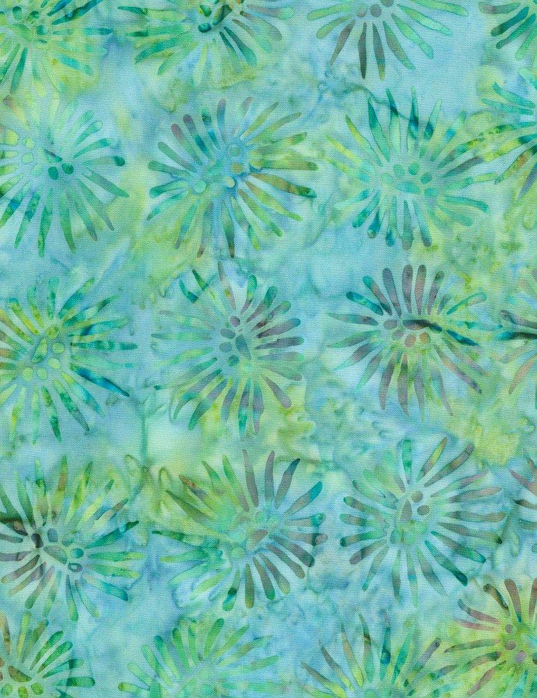 Tonga Batiks - Burst (Emerald)