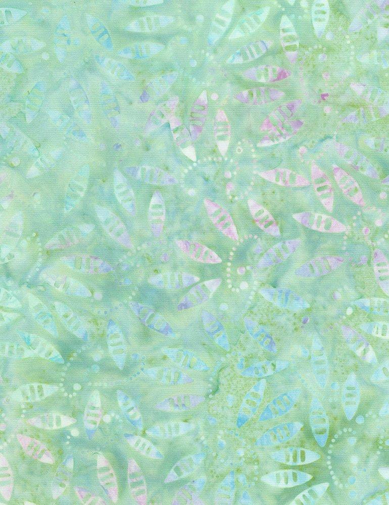 Tonga Batiks - Amoeba (Mint)