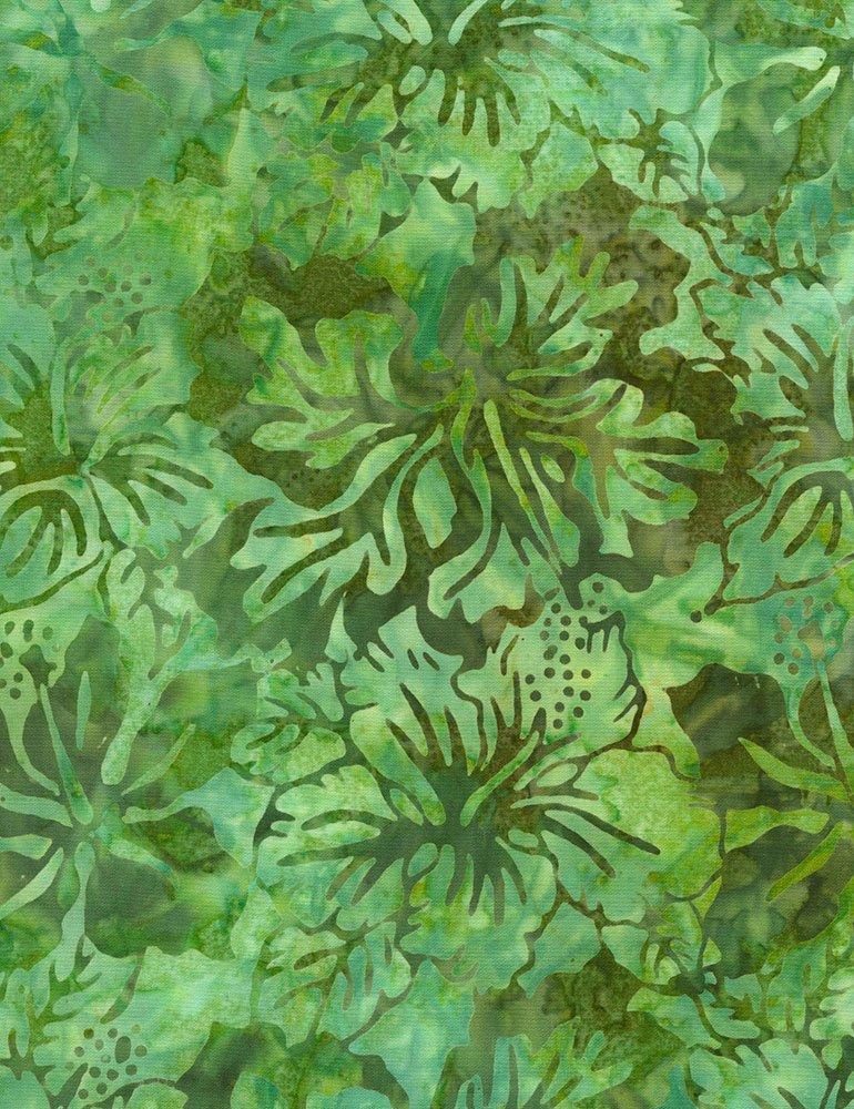 Tonga Batiks - Hibiscus (Moss)