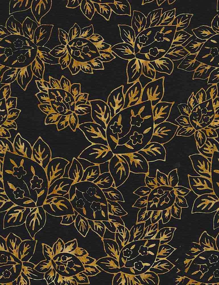 Tonga Batiks - Bloom (Jet)
