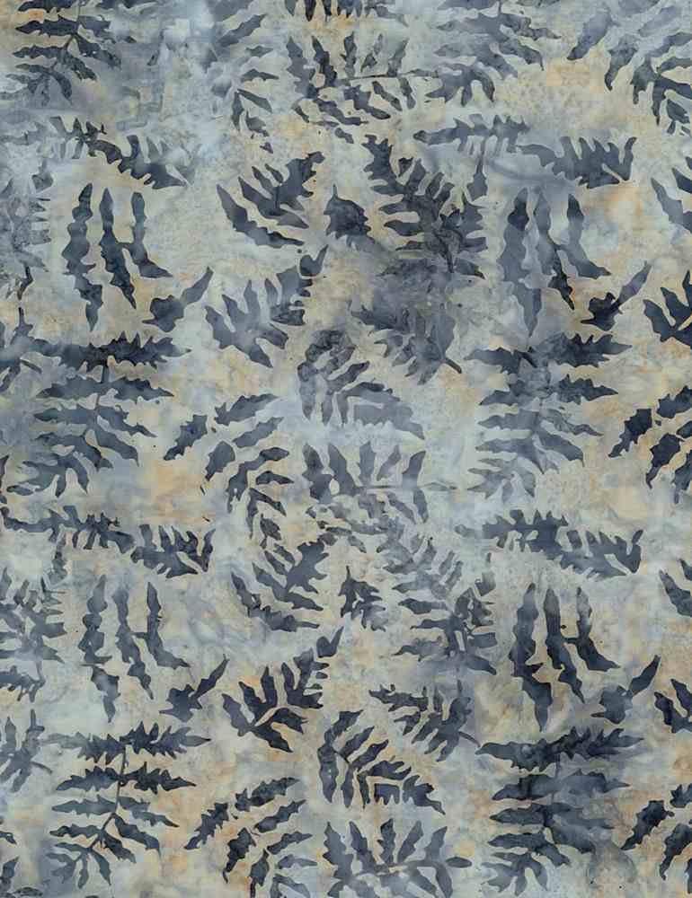 Tonga Batiks - Forest Leaves (Stone)