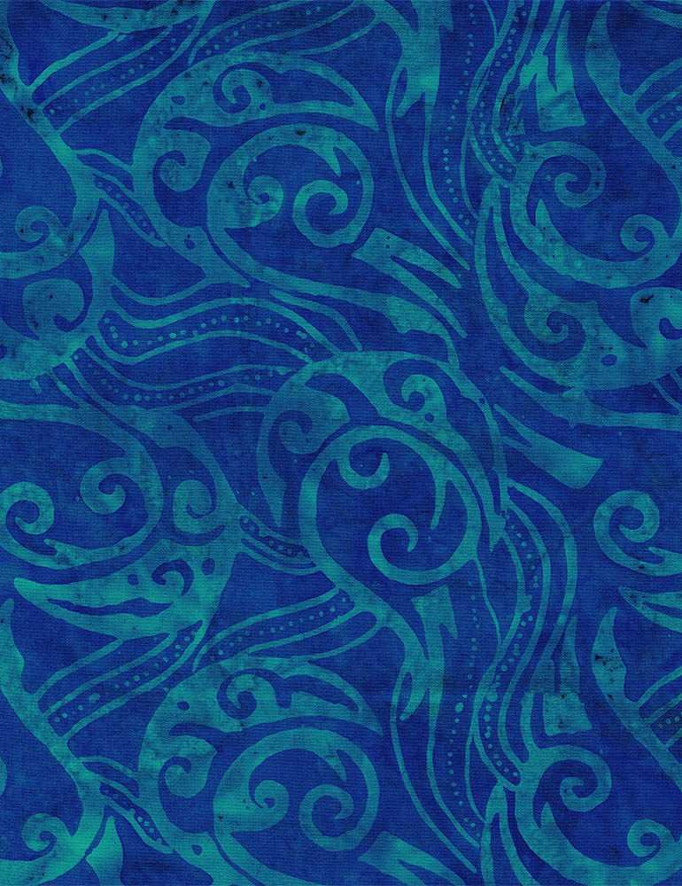 Tonga Celebrity Batik - Abstract Rigid Swirls (Reef)
