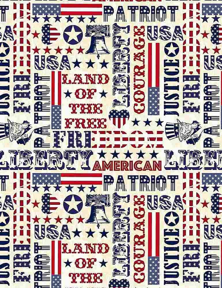 *Patriotic Typography (Cream)