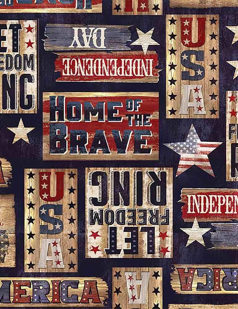 *Patriotic Rustic Signs (Navy)