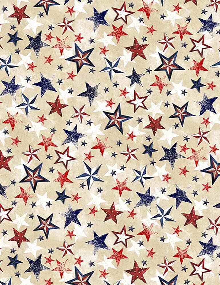 *Patriotic Various Stars (Cream)