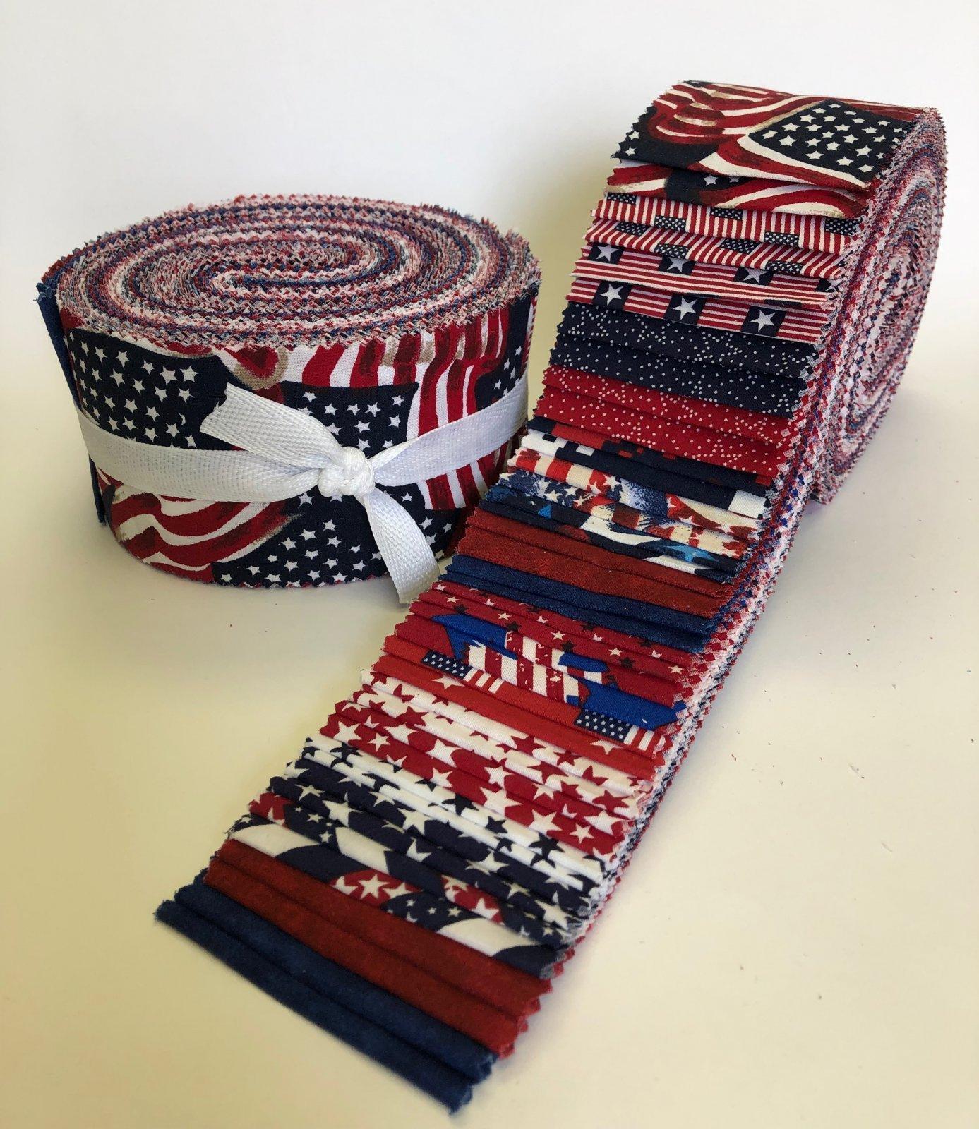 Patriotic - 40 Pieces (2 1/2 Strips)