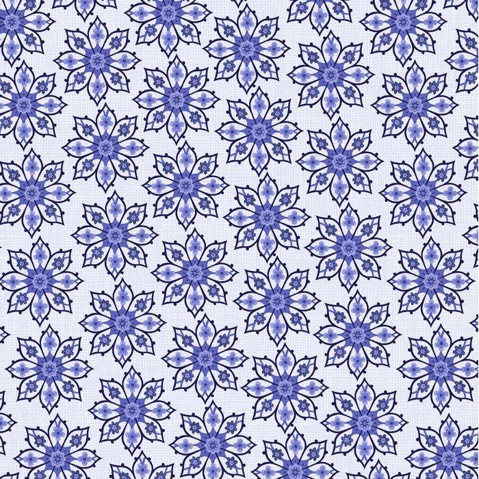 Deco Floral (White/Blue)