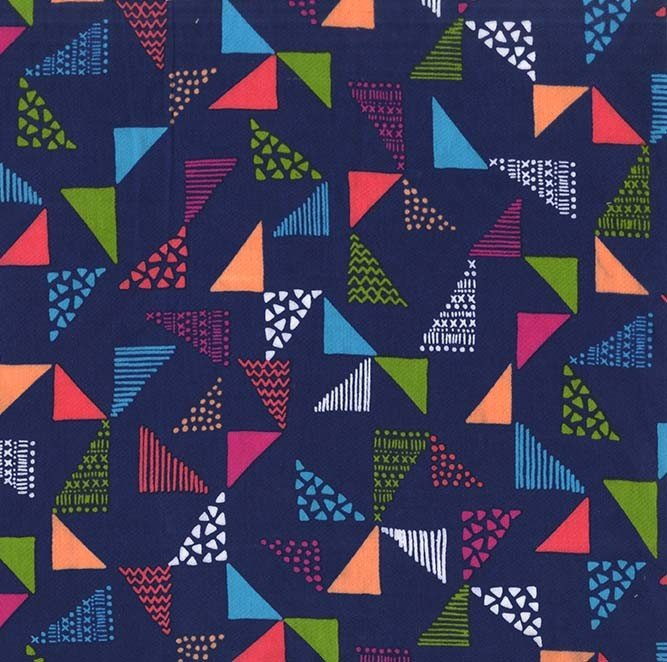 108 Wide - Just Right (Multi on Navy)