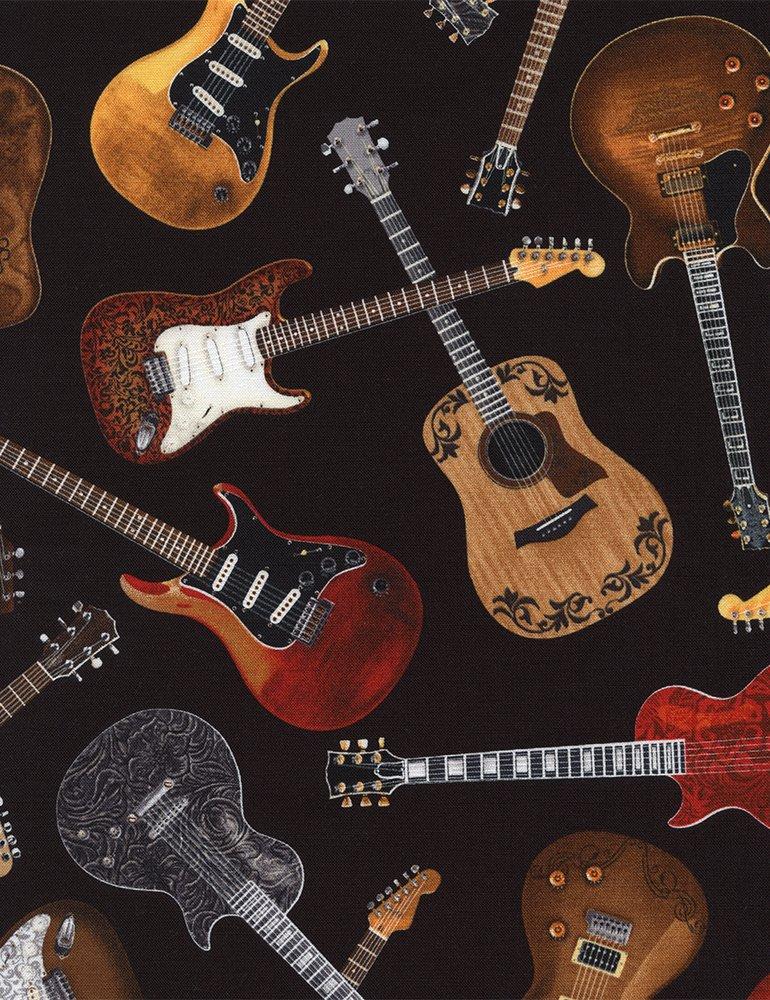 *Tossed Guitars (Black)