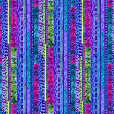 Celestial Magic Metallic - Stripe (Dk. Blue)