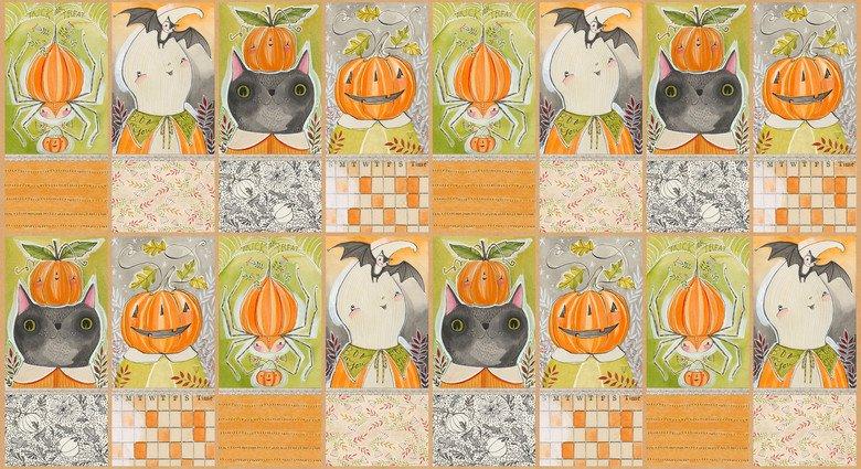 112.123.02.1 Halloween Pals Panel Happy Halloweeny Cori Dantini Blend