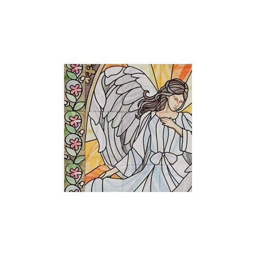 12605CD Stained Glas Angel Tiling OESD