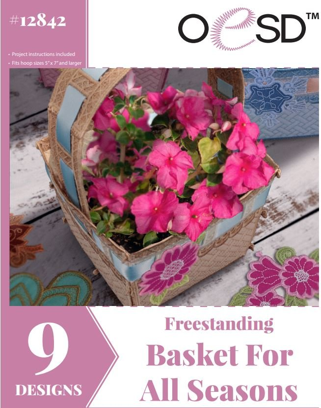 12842CD Freestanding Lace Basket For All Seasons