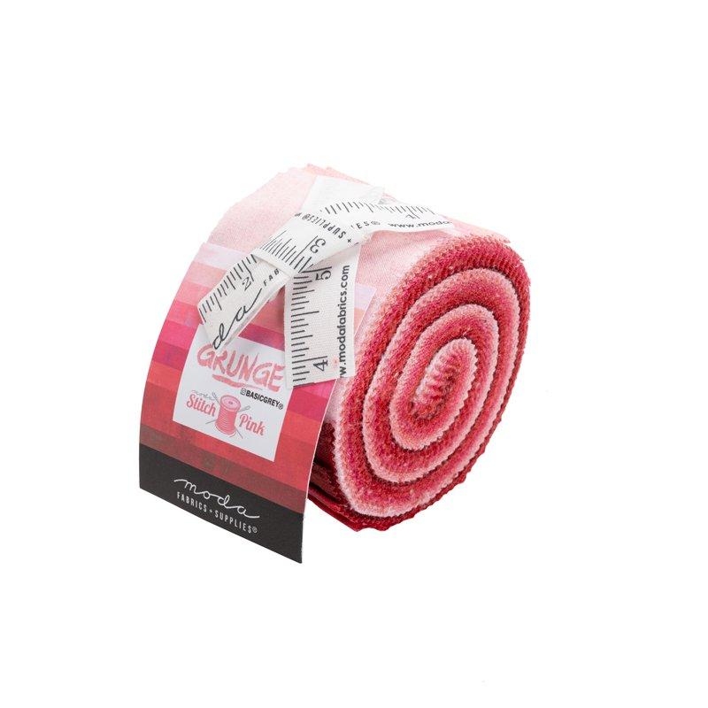 30150JJRSP Pink Grunge Junior Jelly Roll Stitch Moda (KTX)