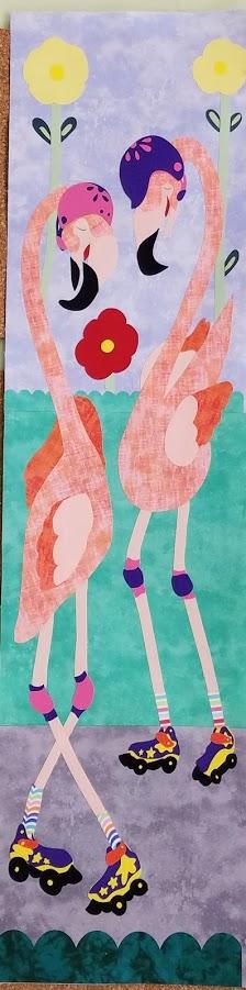 Go Go Flamingo Row by Row