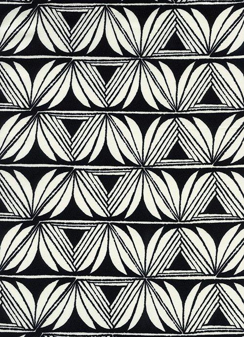 S2068-015 Santa Fe-Pottery-Black RAYON 44 Fabric