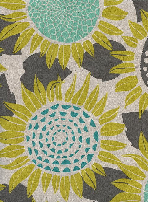 S2074-012 Front Yard Sunflowers Yellow Canvas RJR