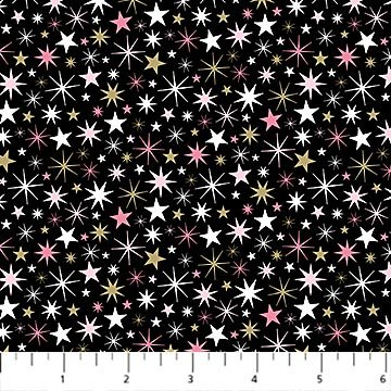 23232M 99 Black Small Stars Believe In Magic by Sarah Will Northcott