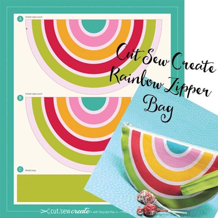 20656 11P Rainbow Zipper Pouch Panel