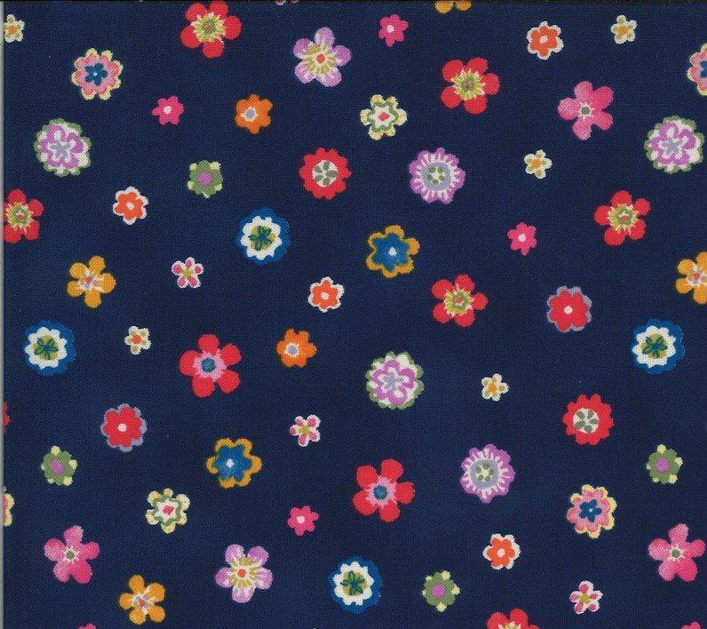 33585 11 Navy Flowers Lulu Chez Moi Moda