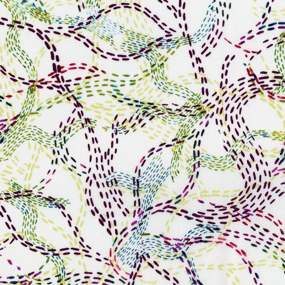 3360-003 Urban Garden - Pathyways-Red Plax Fabric