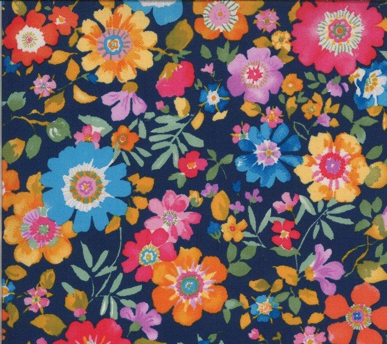 33581 11 Navy Flower Garden Lulu Chez Moi Moda