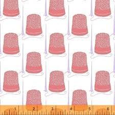 40448-6 Snippits Thimbles Pink Windham Fabrics