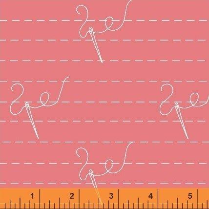 40449 6 Pink Needles Snippits Windham Fabrics