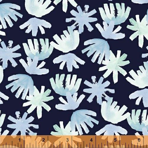 42016-1 Aria Brushed Petals Navy Windham Fabrics
