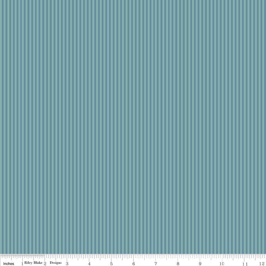 C7085-Teal Lancelot Stripe Teal Riley Blake