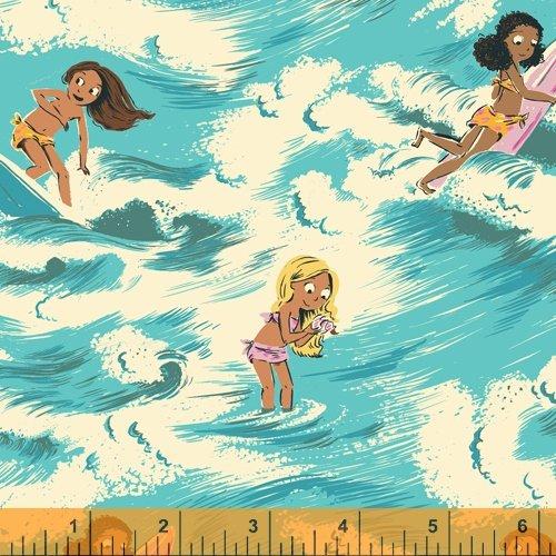 52145-1 Ocean Sayulita Malibu Heather Ross Windham Fabrics
