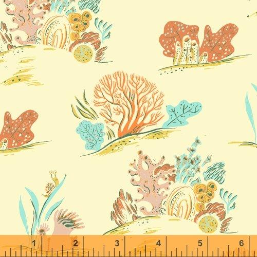 52147LC-9 Coral LINEN CANVAS Malibu Heather Ross Windham Fabrics