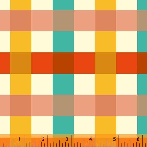 52148-1 Ocean Big Gingham Malibu Heather Ross Windham Fabrics