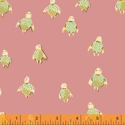 52150-16 Rose Turtles Malibu Heather Ross Windham Fabrics